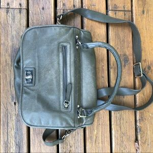 Halogen olive green leather bag